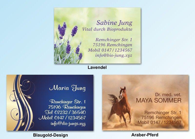 100 Motiv Visitenkarten Lavendel