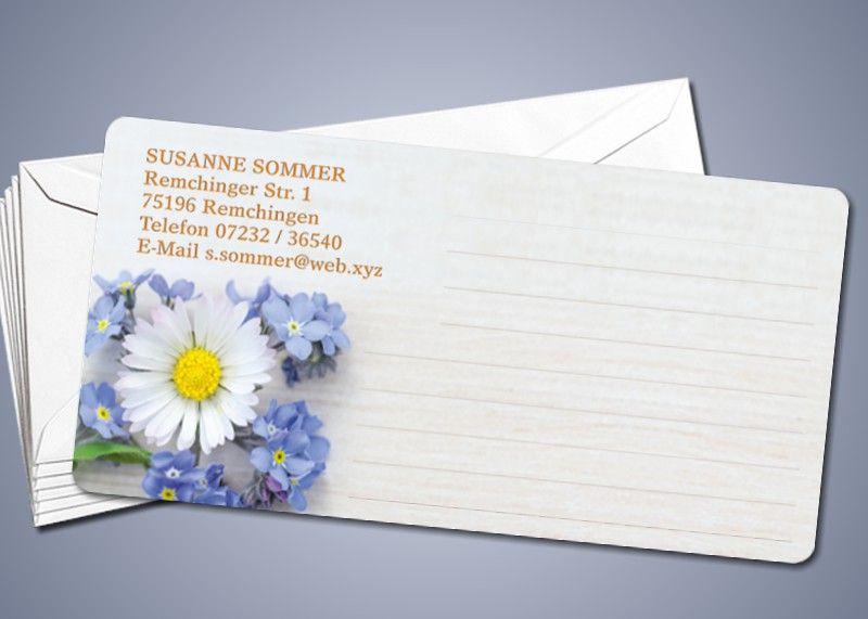 """50 Briefkarten """"Gänseblümchen"""""""