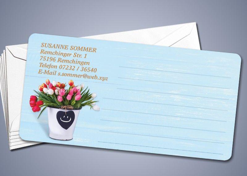 """50 Briefkarten """"Tulpen-Strauß"""""""