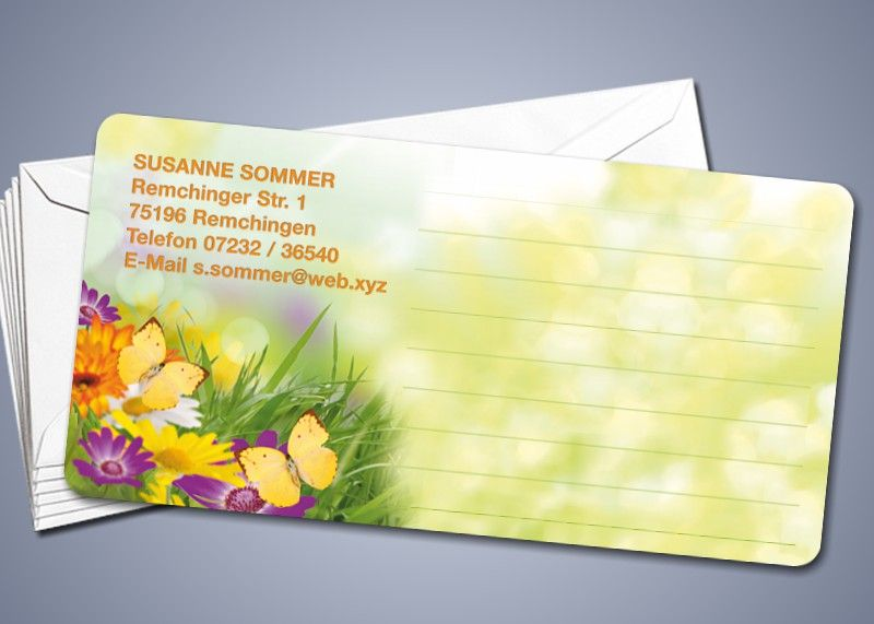 "50 Briefkarten ""Blumenwiese"""