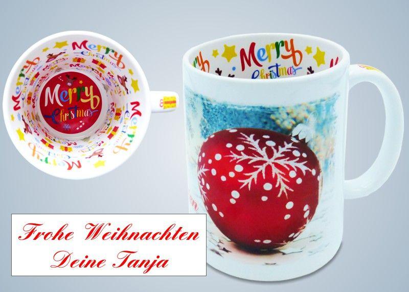 Keramiktasse Weihnachten