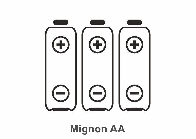Batterie Typ Mignon AA, 3 Stück