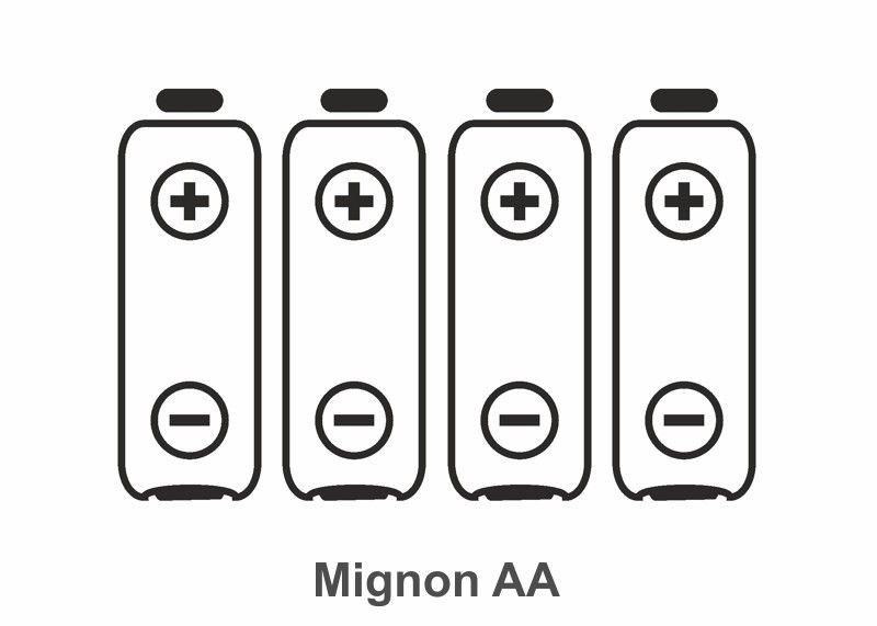 Batterie Typ Mignon AA, 4 Stück