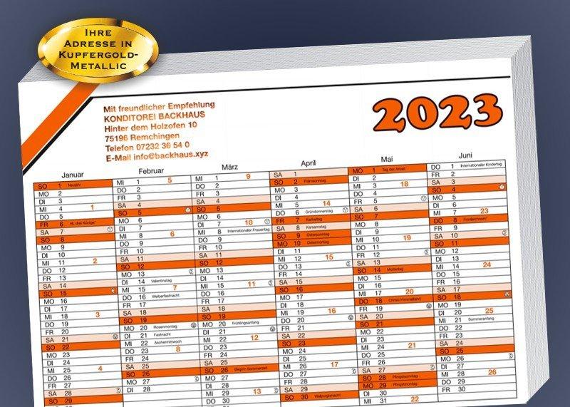 Wandkalender 2020 500 Stück