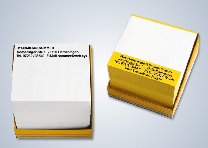 1000 persönliche Notizen Signal-Gelb