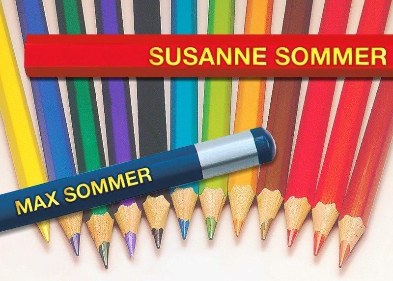 Namens-Stifte Goldprägung Set Farb- und Bleistifte