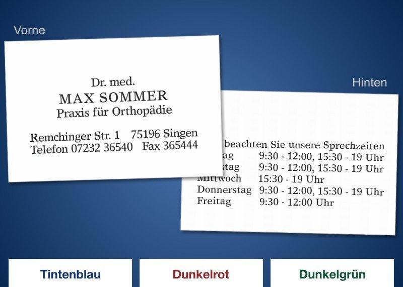100 CLASSIC DUO Visitenkarten Schwarz