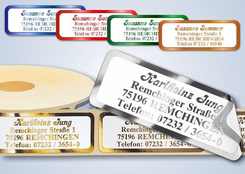 500 Adressaufkleber SUPER de-Luxe Gold-metallic