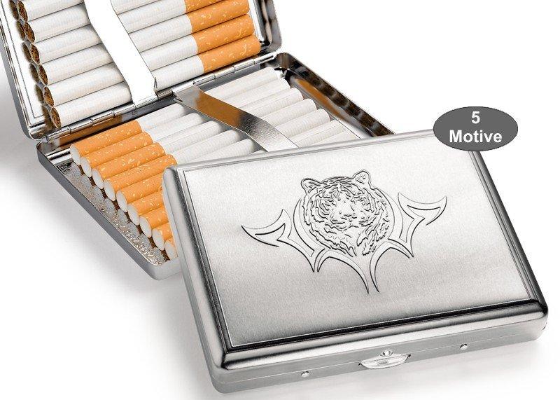 Zigaretten-Etui Metall Tiger