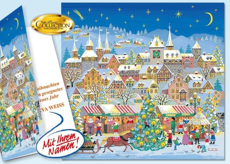 """Weihnachtskarte """"Adventsmarkt"""" 20 Stück"""