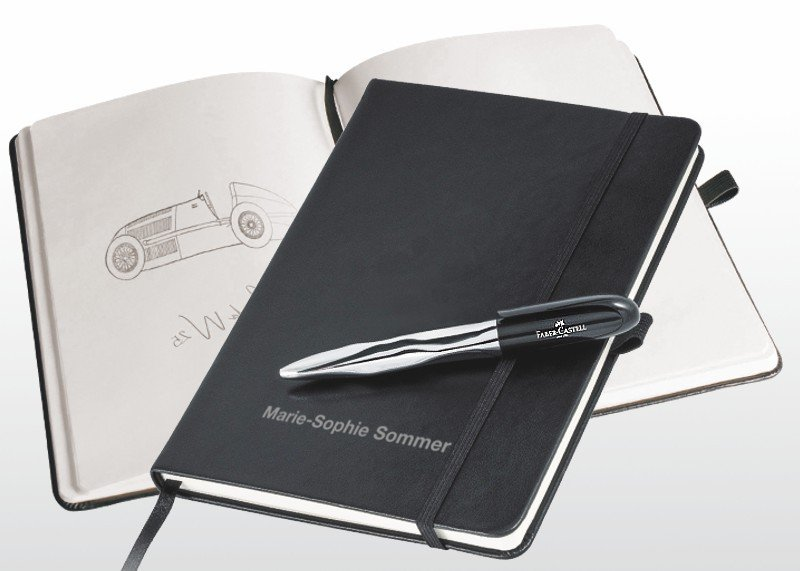 Notizbuch & Kugelschreiber Faber Castell
