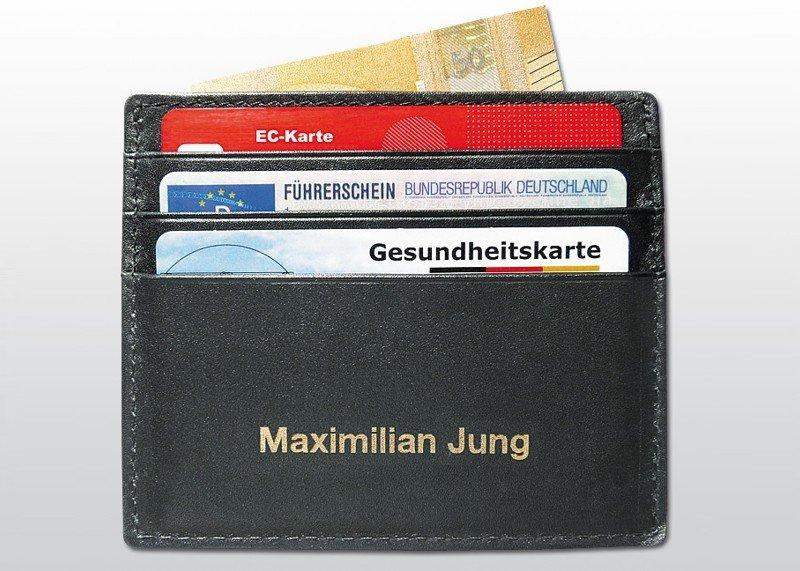 RFID-Kreditkarten-Etui Leder
