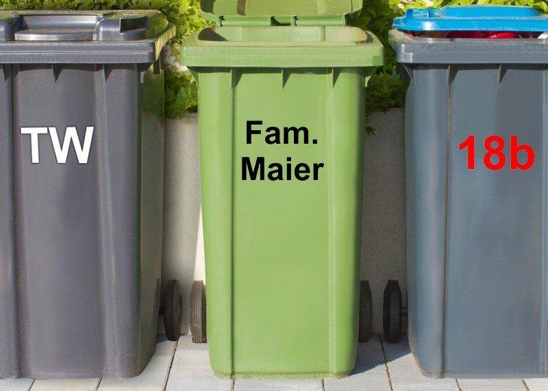 Mülltonnen-Aufkleber Rot