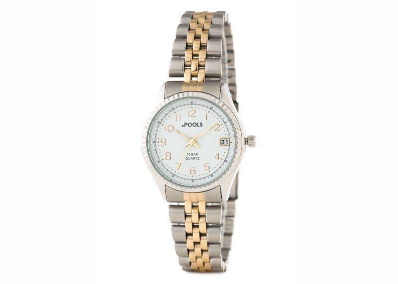 Damen-Armbanduhr Bicolor