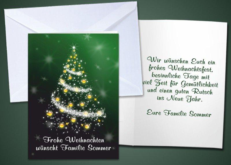 """20 Weihnachts-Klappkarten """"Christbaum"""""""