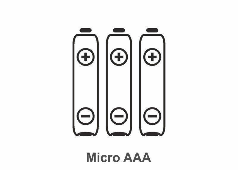 Batterie Typ Micro AAA, 3 Stück