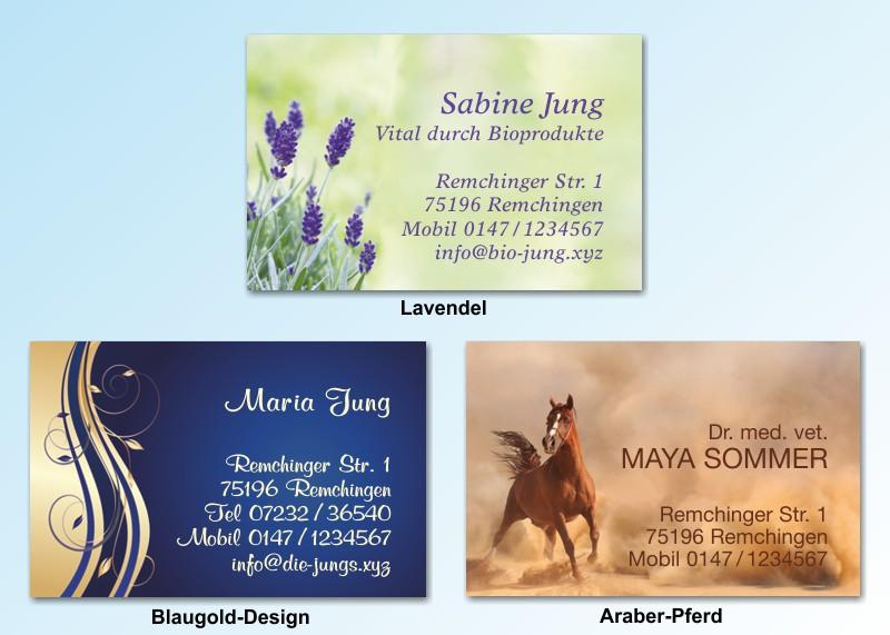 100 Motiv Visitenkarten Versandhaus Jung