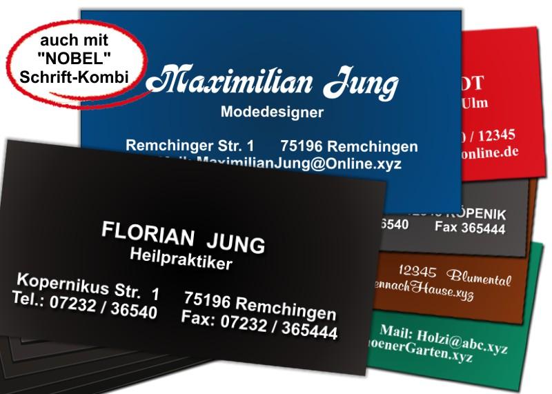 100 Weißgeprägte Visitenkarten Versandhaus Jung