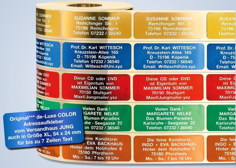 500 Adressaufkleber Color Versandhaus Jung