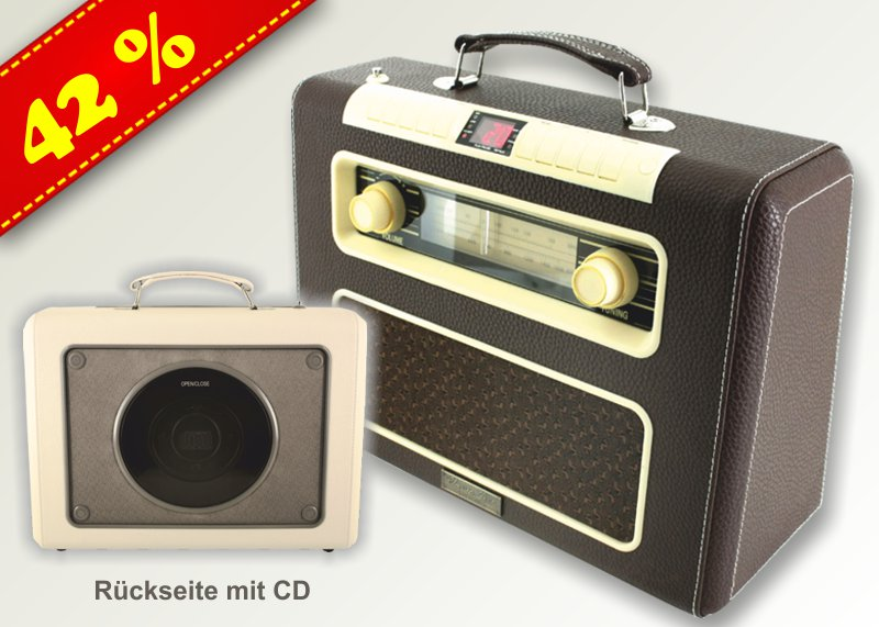nostalgie koffer radio mit cd versandhaus jung. Black Bedroom Furniture Sets. Home Design Ideas