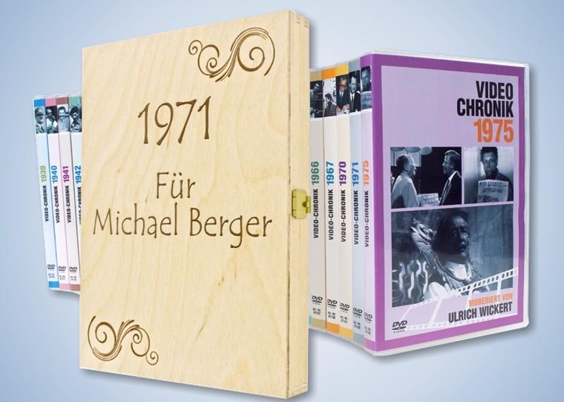 Jahrgangs chronik film dvd mit namen versandhaus jung for Geschenke versandhaus
