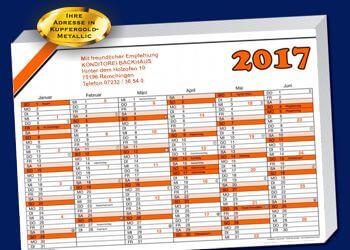 Wandkalender 2017