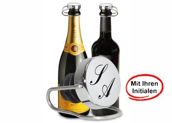 Flaschenverschluss mit Initialen
